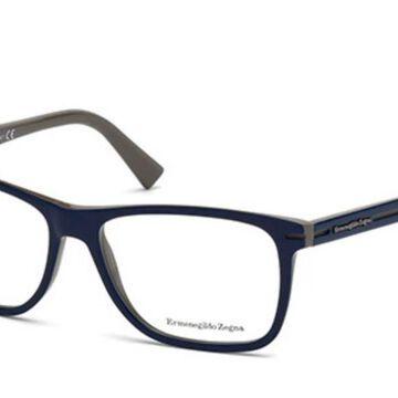 Ermenegildo Zegna EZ5044 092 Men's Glasses Blue Size 55 - Free Lenses - HSA/FSA Insurance - Blue Light Block Available