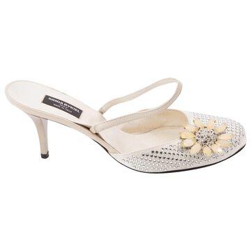 Sonia Rykiel Ecru Leather Heels