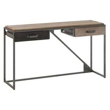 Bush Furniture Refinery Brown Rustic Console Table in Gray