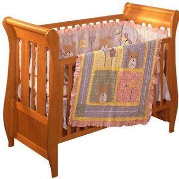 Trend Lab 102844 3 Piece Peak-A-Bear Crib Bedding Set