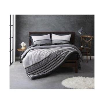 Sean John Knit Stripe Jersey Full/Queen Duvet Set Bedding