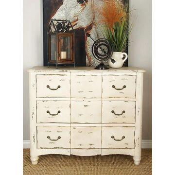 Farmhouse 3-drawer Weathered Antique White Wood Dresser for Studio 350 (3-drawer)
