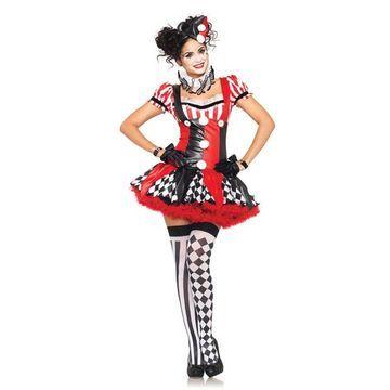 Leg Avenue Harlequin Clown Adult Costume-Medium