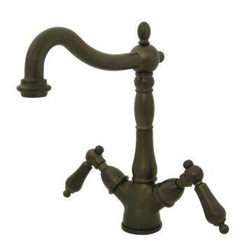 Kingston Brass KS1495AL Heritage 2-Handle Vessel Sink Faucet, Oil Rubbed Bronze