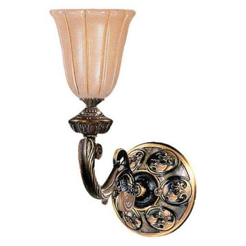 Crystorama Natural Alabaster 1-Light Bronze Sconce