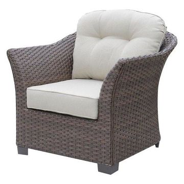 Furniture of America Hampton Patio Chair in Brown