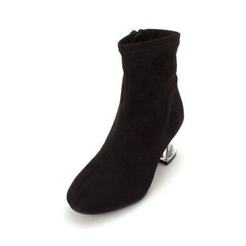 Bar III Womens Lacy Closed Toe Ankle Fashion Boots