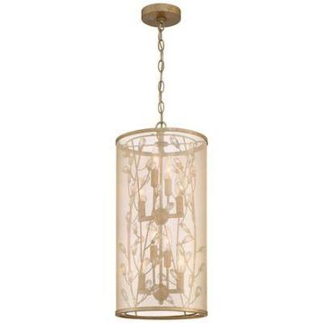 Minka-Lavery Sara's Jewel 8-Light Pendant in Gold/Silver with Shade