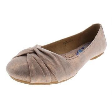 Born Womens Lilly Suede Slip on Ballet Flats