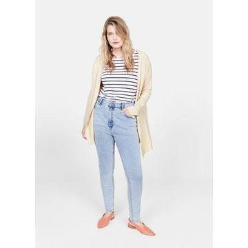 Violeta BY MANGO - Fine-knit cardigan sand - S - Plus sizes