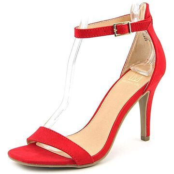 Material Girl Womens Blaire4 Fabric Open Toe Special Occasion