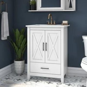 Key West 24W Bathroom Vanity with Sink by Bush Furniture