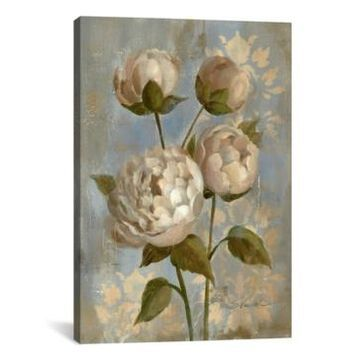 iCanvas Peony on Soft Blue by Silvia Vassileva Gallery-Wrapped Canvas Print - 40
