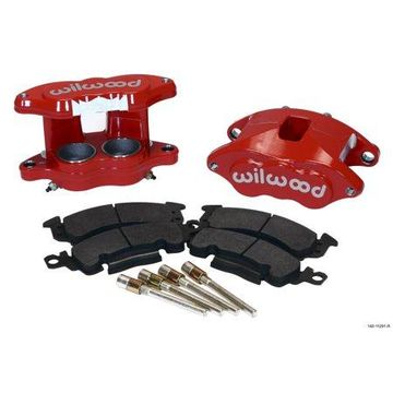 Wilwood D52 Front Caliper Kit - Red 2.00 / 2.00in Piston 1.04in Rotor