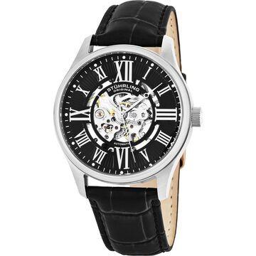 Stuhrling Original Men's Atrium Black Automatic Strap Watch