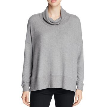 Three Dots Womens Lined Funnel Neck Pullover Sweater