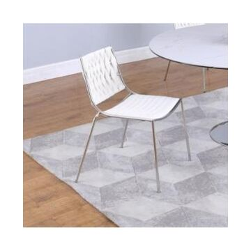 Chintaly Stackable Side Chair with Weave Back, Set of 4