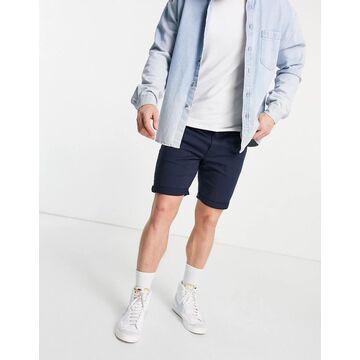 Jack & Jones Intelligence 5 pocket shorts in navy