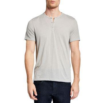 Men's Burnout Henley T-Shirt