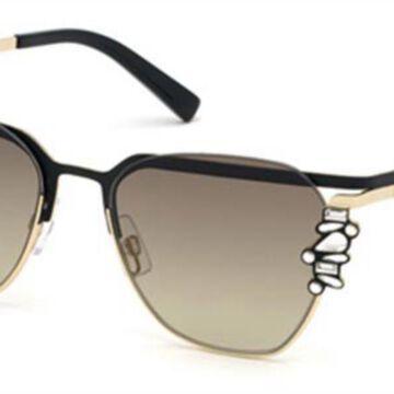 Dsquared2 DQ0300 02P Womenas Sunglasses Black Size 55