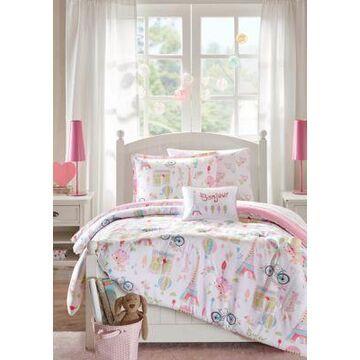 Jla Home Bonjour Paris Complete Bed And Sheet Set - -