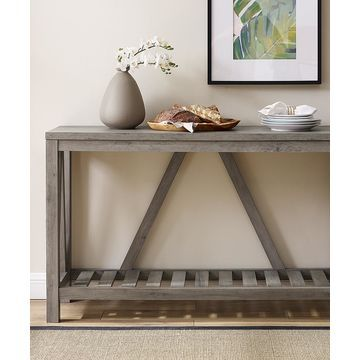 Walker Edison Console and Sofa Tables Grey - Gray Wash A-Frame Console Table