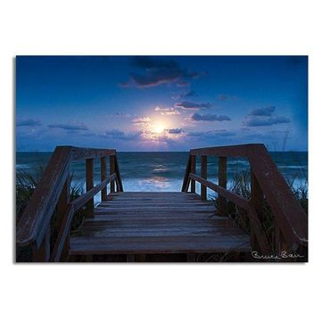 Ready2hangart Bruce Bain 'Blue Sunrise' Canvas Wall Art