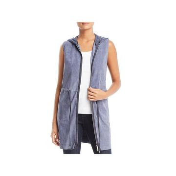 Lafayette 148 New York Womens Vest Leather Suede