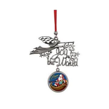 American Coin Treasures Joy To The World Santa Peace On Earth Jfk Half Dollar Ornament