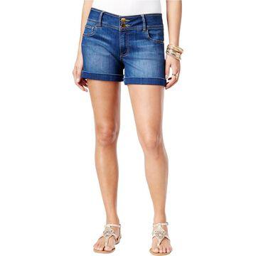 Thalia Sodi Womens Denim Cuffed Casual Shorts