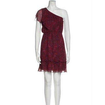 Silk Mini Dress Red