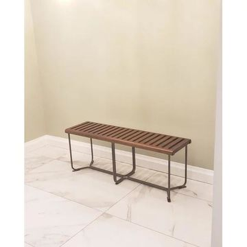 Fine Mod Imports Solid Bench, Brown, 48