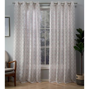 ATI Home Helena Printed Grommet Top Window Curtain Panel Pair