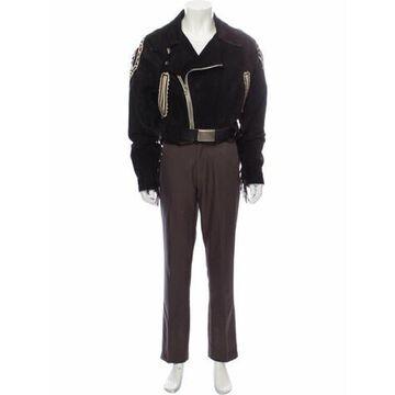 Vintage 1980's Moto Jacket Brown