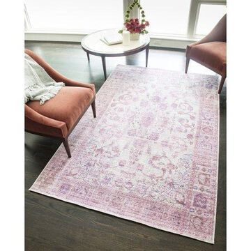 Rugs America Asteria Collection Lavender AI250D Transitional Floral Area Rug 8' x 10'