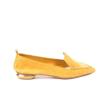 Nicholas Kirkwood Yellow Leather Ballet flats