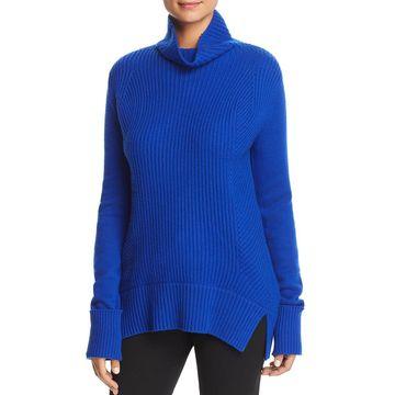 Elie Tahari Womens Tamaya Wool Blend Ribbed Knit Pullover Sweater