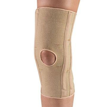 OTC Knee Support with Condyle Pads, Beige, Large