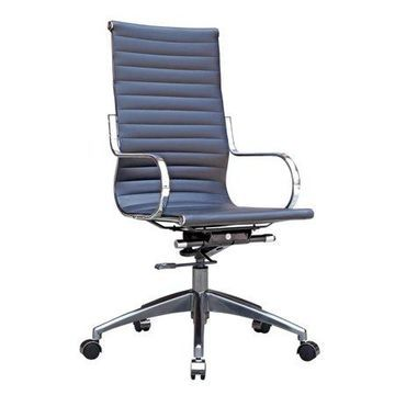 Fine Mod Imports Twist Office Chair High Back, Black