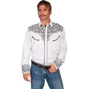 Scully Legends Men's Poly/Rayon Blend Snap Front Shirt, P-815-BLK-L