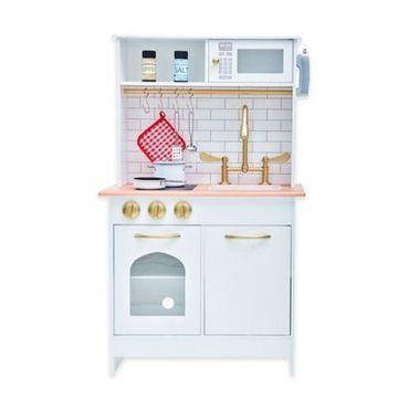 Teamson Kids Boston Play Kitchen in White/Wood