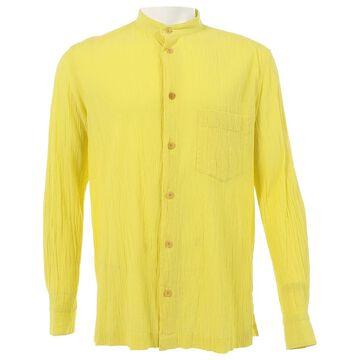 Issey Miyake Yellow Cotton Shirts