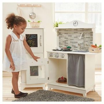 Teamson Kids Sunday Brunch Wooden Play Kitchen - White