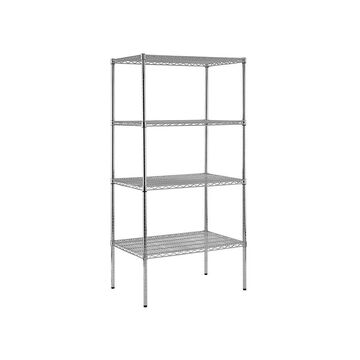Shelf Steel Shelving Unit In Chrome Finish