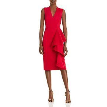 Eliza J Ruffle Skirt Cocktail Dress
