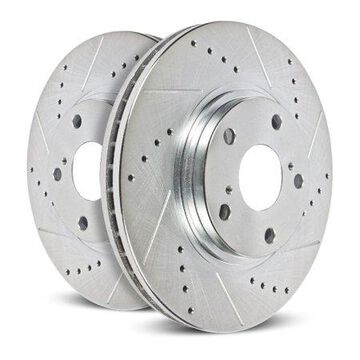 Power Stop Rear Pair of Drilled and Slotted Brake Rotors JBR1587XPR