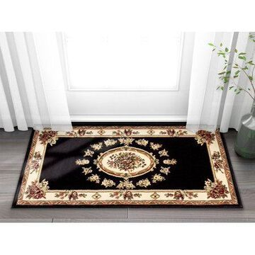 Well Woven Timeless Le Petit Palais Traditional Medallion Floral Black 2'3