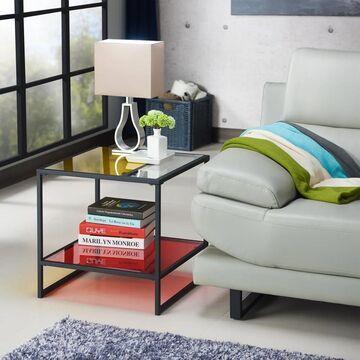Furniture of America Serr Contemporary Multi-color Glass Top End Table (Multi)