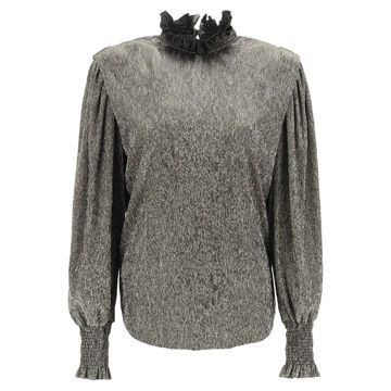 Isabel marant etoile noshi metallic blouse