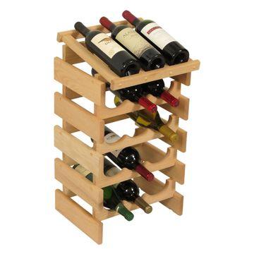 Dakota 15 Bottle Wine Rack with Display Top
